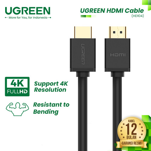 Foto Produk UGREEN HDMI 2.0 Cable - HD104 - 1 Meter dari UGREEN Authorized Store
