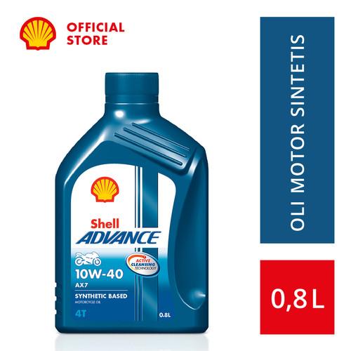Foto Produk Oli Motor Shell Advance AX7 10W-40 (0.8L) dari SHELL Indonesia