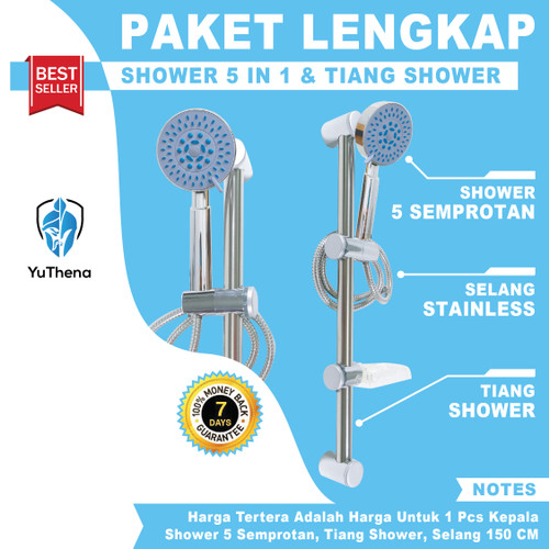 Foto Produk Shower Tiang Set Column Shower Rail Tiang Shower Mandi dari YuThena Official Store