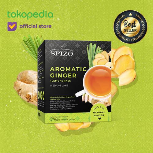 Foto Produk Aromatic Ginger + Lemongrass (Wedang Jahe) 8 Sachet Minuman Bubuk /Box dari SPIZO