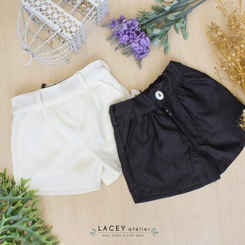 Foto Produk Celana Anak Perempuan Orley Short Lacey Atelier - Hitam, XS 9-12 bulan dari LACEY atelier