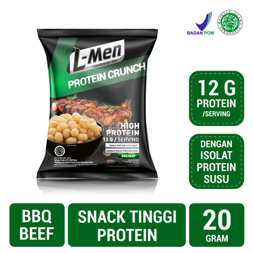 Foto Produk L-Men Protein Crunch BBQ Beef (20gr) dari NutriMart