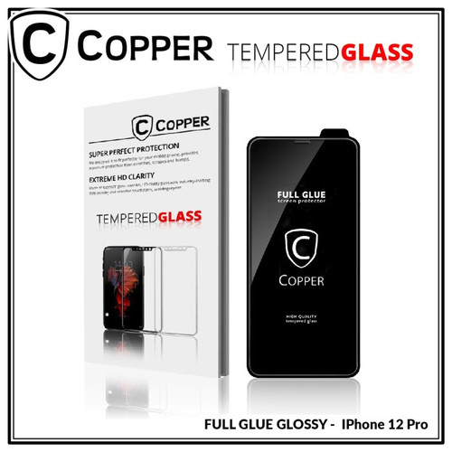 Foto Produk iPhone 12 Pro - COPPER Tempered Glass FULL GLUE PREMIUM GLOSSY - TG GLOSSY dari Copper Indonesia