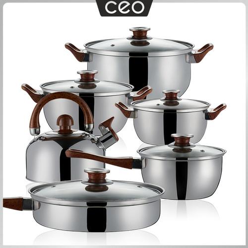 Foto Produk CEO Set Panci Stainless Steel 6 in 1 Set Peralatan Masak Stainless dari CEO Official Store