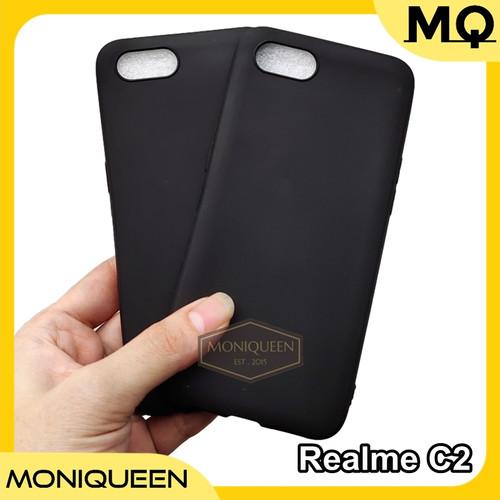 Foto Produk Realme C2 SLIM BLACK MATTE CASE SOFTCASE Blackmatte case dari MoniQueenShop