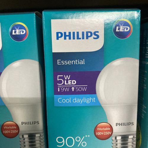 Foto Produk Lampu ledbulb essential 5watt putih Philips. Untuk pemesanan jumalah b dari DONEX
