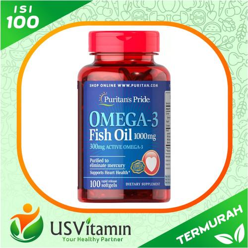 Foto Produk Puritan Pride Omega-3 Fish Oil 1000 mg 100 Caps - Original & Termurah dari usvitaminshop