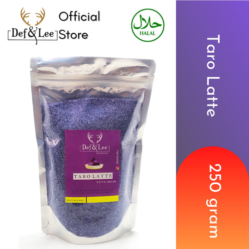 Foto Produk Taro Latte Powder dari Ubi Jepang Asli dari Def & Lee Beverages