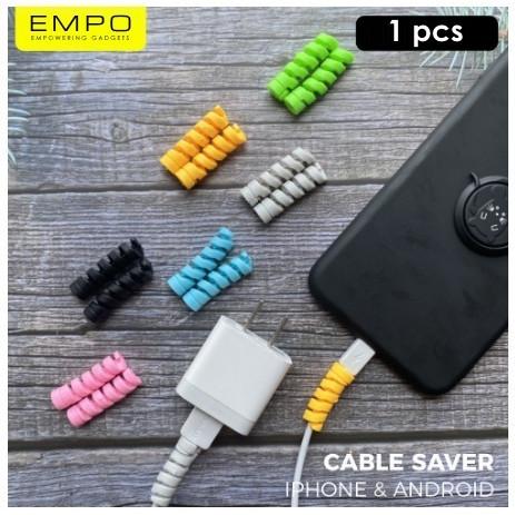 Foto Produk Cable Protector Spiral | Pelindung Kabel ChargerCable Protector Spiral - Hitam dari EMPO