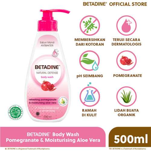 Foto Produk BETADINE Body Wash Pomegranate Bottle 500 mL dari Betadine Official Store