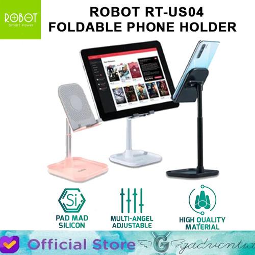 Foto Produk Robot RT-US04 Table Phone Holder Stand Aluminium Alloy Universal dari GADVENTIA Official Store