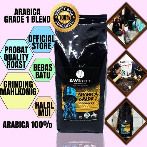 Foto Produk Awi Coffee Kopi SUMATERA ARABICA GRADE 1 1Kg   Roasted Coffee Beans - Biji dari AWI COFFEE