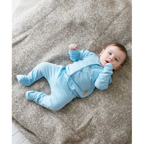 Foto Produk Takoyakids Essentials Suki Foldable Pyjamas Sets Cloud Blue - 3-6m dari Kottonville