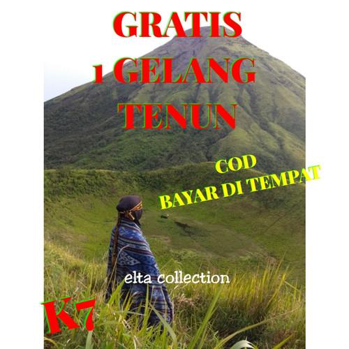 Foto Produk Kain tenun ikat etnik selimut atau blanket dari laris tenun