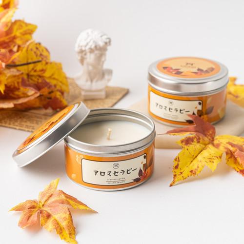 Foto Produk UCHII Aroma Therapy Decorative Canned Candle | Lilin Wangi Autumn Leaf dari uchii store