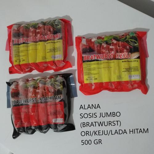 Foto Produk ALANA - SOSIS SAPI /BRATWURST JUMBO - BRATWURST ORI dari Marza Go