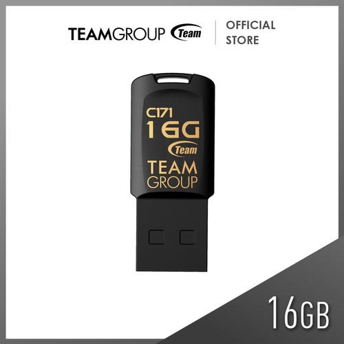 Foto Produk TEAMGROUP C171 USB 2.0 FLASH DRIVE 16GB Black dari Teamgroup Official Store
