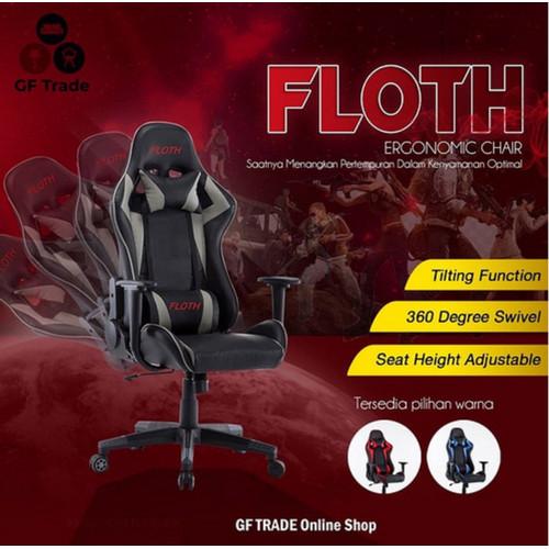 Foto Produk Floth Gaming Chair Premium Quality Gaming Chair FLH-098 - Biru dari GF Trade