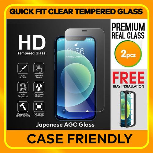 Foto Produk iPhone 12 Pro Max / Pro / 12 Mini CLEAR TEMPERED GLASS (2Pack) W/ Tray - iPhone 12ProMax dari Spigen Indonesia