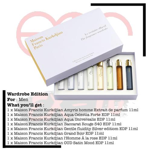 Foto Produk Gift Set The Fragrance Wardrobe Maison Francis Kurkdjian For Him 8pcs dari ETC