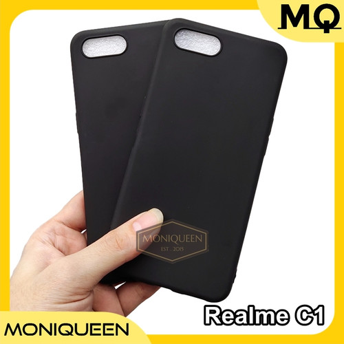 Foto Produk Oppo RealMe C1 SLIM BLACK MATTE CASE / Slim blackmatte softcase casing dari MoniQueenShop