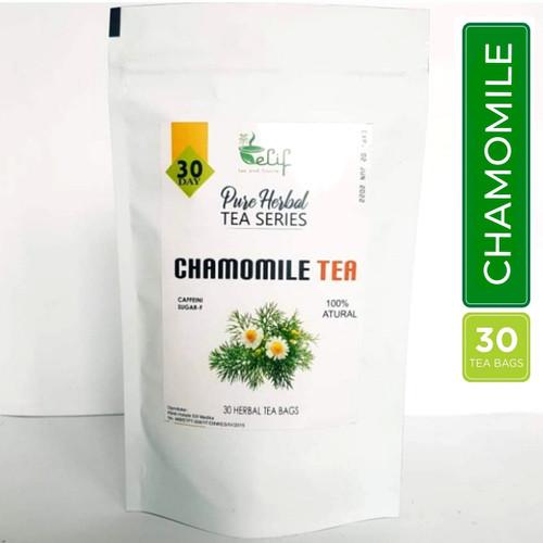 Foto Produk Chamomile Tea : Chamomile Flower Tea / Teh Bunga Camomile (30 Tea Bag) dari elif Tea & Tisane