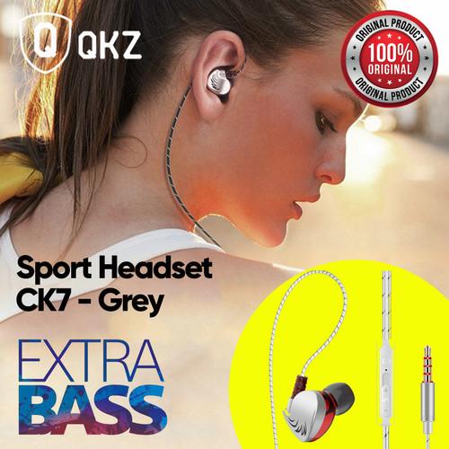 Foto Produk QKZ CK7 Headset Earphone Sport In-Ear Stereo Super Bass With Mic - Grey dari Unitech Official