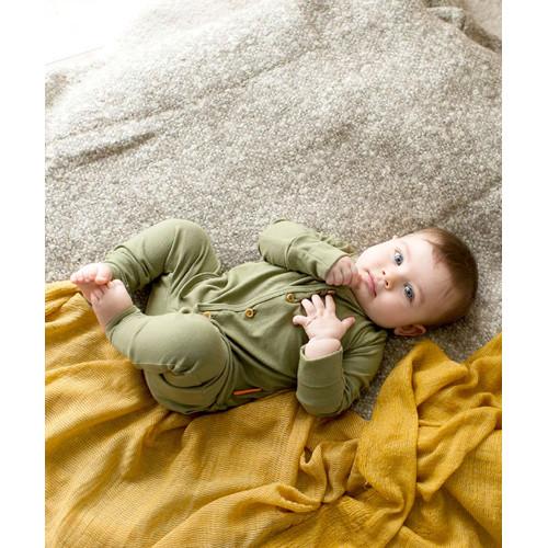 Foto Produk Takoyakids Essentials Suki Foldable Pyjamas Sets Olive - 3-6m dari Kottonville