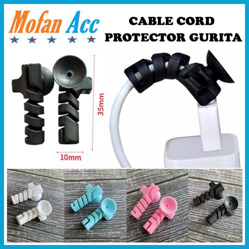 Foto Produk Pelindung Ujung Kabel Spiral 2in1 Cable Protector Gurita Sucker Tempel dari mofan accesories