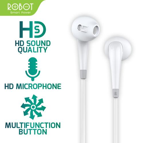 Foto Produk ROBOT Earphone/Headset Android/iPhone Garansi Resmi 1 Tahun - RE701 - Putih dari ROBOT OFFICIAL SHOP