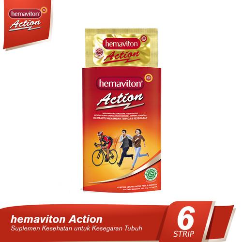 Foto Produk Hemaviton Action Multivitamin Kapsul Suplemen Kesehatan [6 Strip] dari Tempo Store Official