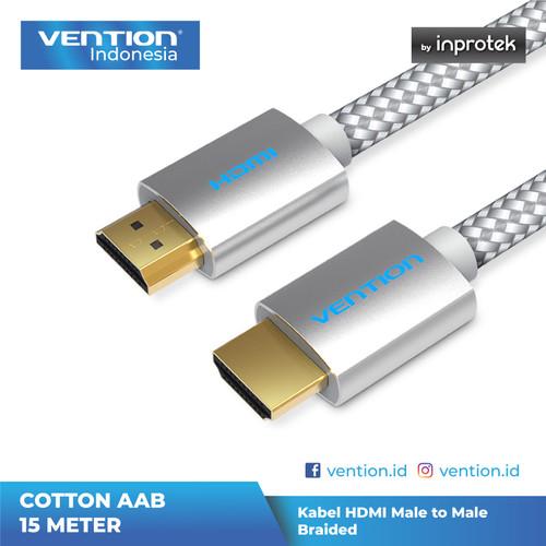 Foto Produk Vention AAB 15M - Vention Kabel High Speed Cotton Braided HDMI v2.0 4K dari Vention Indonesia
