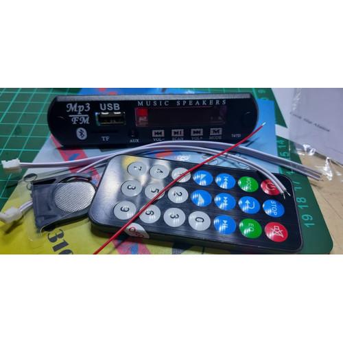 Foto Produk kit modul mp3 bluetooth + remot +kabel +kabel /kit mp3 bluet grc dari Sarah Elektronik