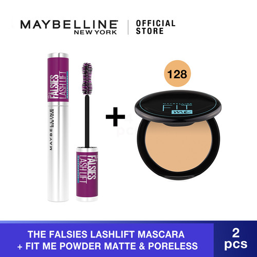 Foto Produk Maybelline The Falsies Lash Lift Very Black Mascara + Powder 128 dari Maybelline Official Shop