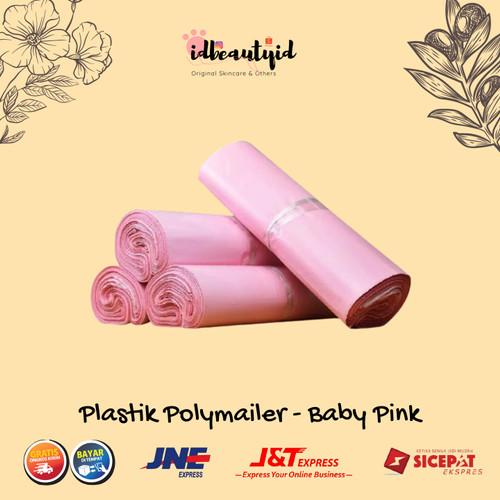 Foto Produk (10 pc) Plastik Packing Online Shop Amplop Polymailer Baby Pink - 17x30 cm dari idbeautyid