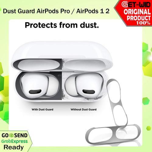 Foto Produk Dust Guard AirPods Pro / AirPods Case Anti Debu Metal Sticker - AirPods 1 2, Black dari GET-WID Official