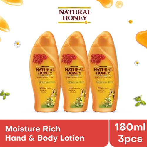 Foto Produk Natural Honey Hand & Body Lotion Moisture Rich [180 mL/ isi 3] dari Tempo Store Official