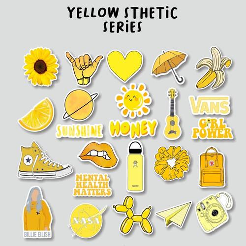 Jual Stiker Aesthetic Yellow Series Stcker Case Handphone Laptop Tumblr Kota Cimahi Ohza Project Tokopedia