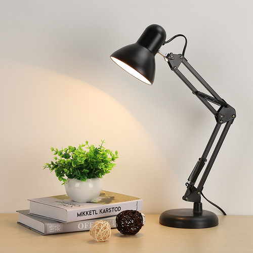 Foto Produk Rumah Fitting Hitam Lampu Baca Arsitek Meja Belajar Kerja Duduk Jepit - LAMPU JEPIT dari Alimajur store
