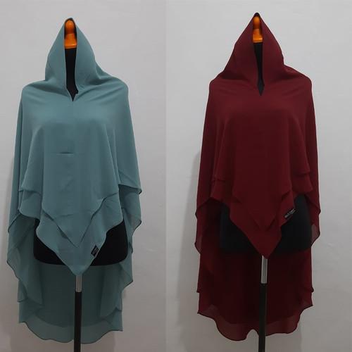 Foto Produk Khimar Syari Ceruti Hijab Instan 2 Layar SELLA PET ANTEM dari DIGDAYA Grosir Hijab
