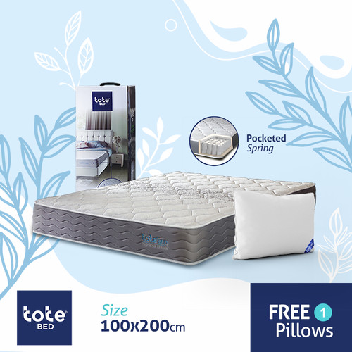 Foto Produk Tote Bed Kasur Pocketed Spring 100 x 200 dari Tote Bed