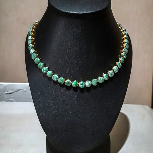 Foto Produk 1901 Jewelry Kalung Giok Lapis Emas - 66cm dari 1901 Jewelry