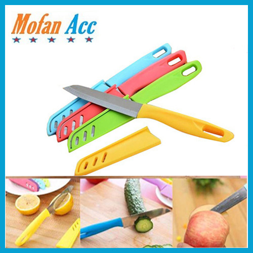 Foto Produk PISAU DAPUR STAINLESS+ SARUNG LOGO APEL / KNIFE APPLE. dari mofan accesories