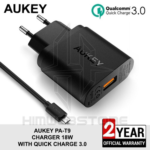 Foto Produk AUKEY PA-T9 Travel Wall Charger Fast Charging Quick Charger QC 3.0 dari HimTech