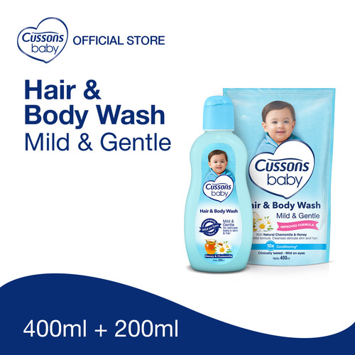 Foto Produk Cussons Baby Body Wash Mild Gentle Pack dari Cussons Official Store