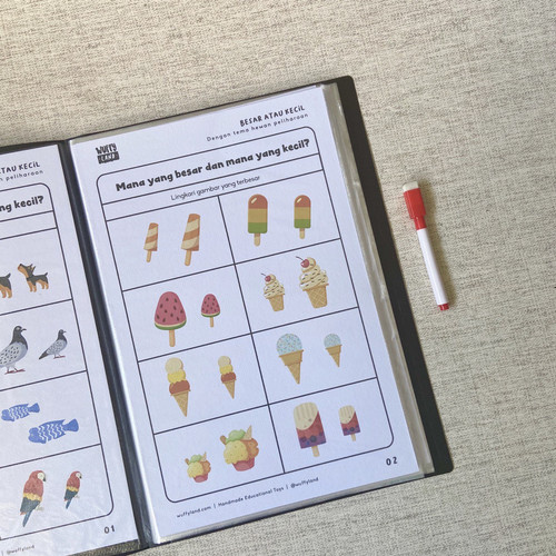 Foto Produk Wipe and Clean Worksheet Vol 01 (Aktivitas anak praTK / Paud) dari wuffyland