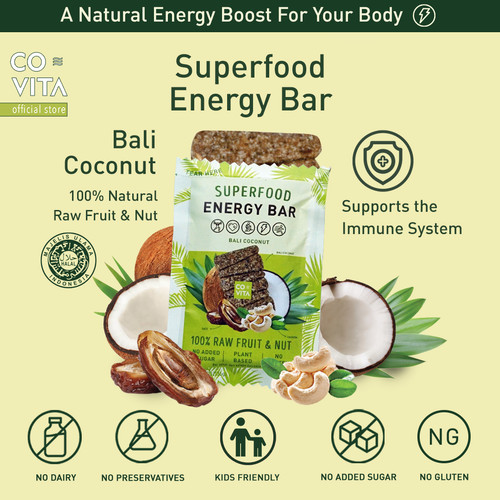 Foto Produk Covita Superfood Energy Bar - Bali Coconut dari Covita