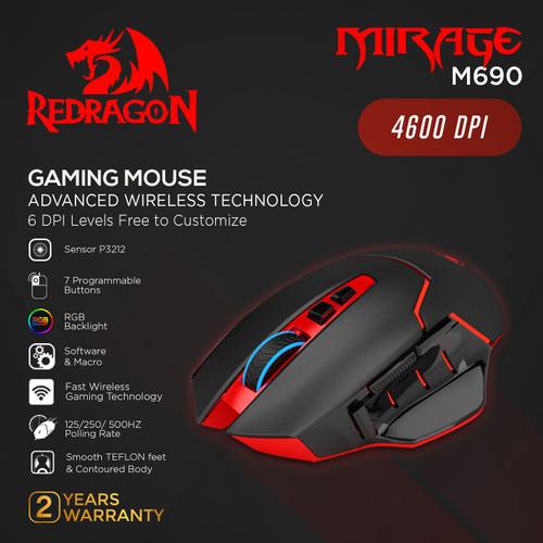 Foto Produk Redragon Wireless Gaming Mouse MIRAGE - M690 dari REDRAGON INDONESIA