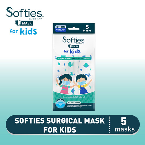 Foto Produk Softies Surgical Mask for Kids 5s dari Softex Indonesia