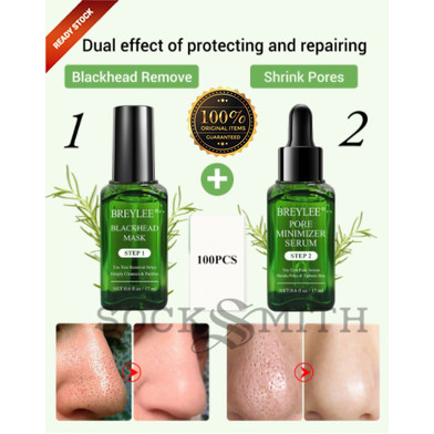 Foto Produk Breylee BLACKHEAD MASK STEP 1 17 mL 100% Original ! - Step 1 + Step 2 dari SockSmith